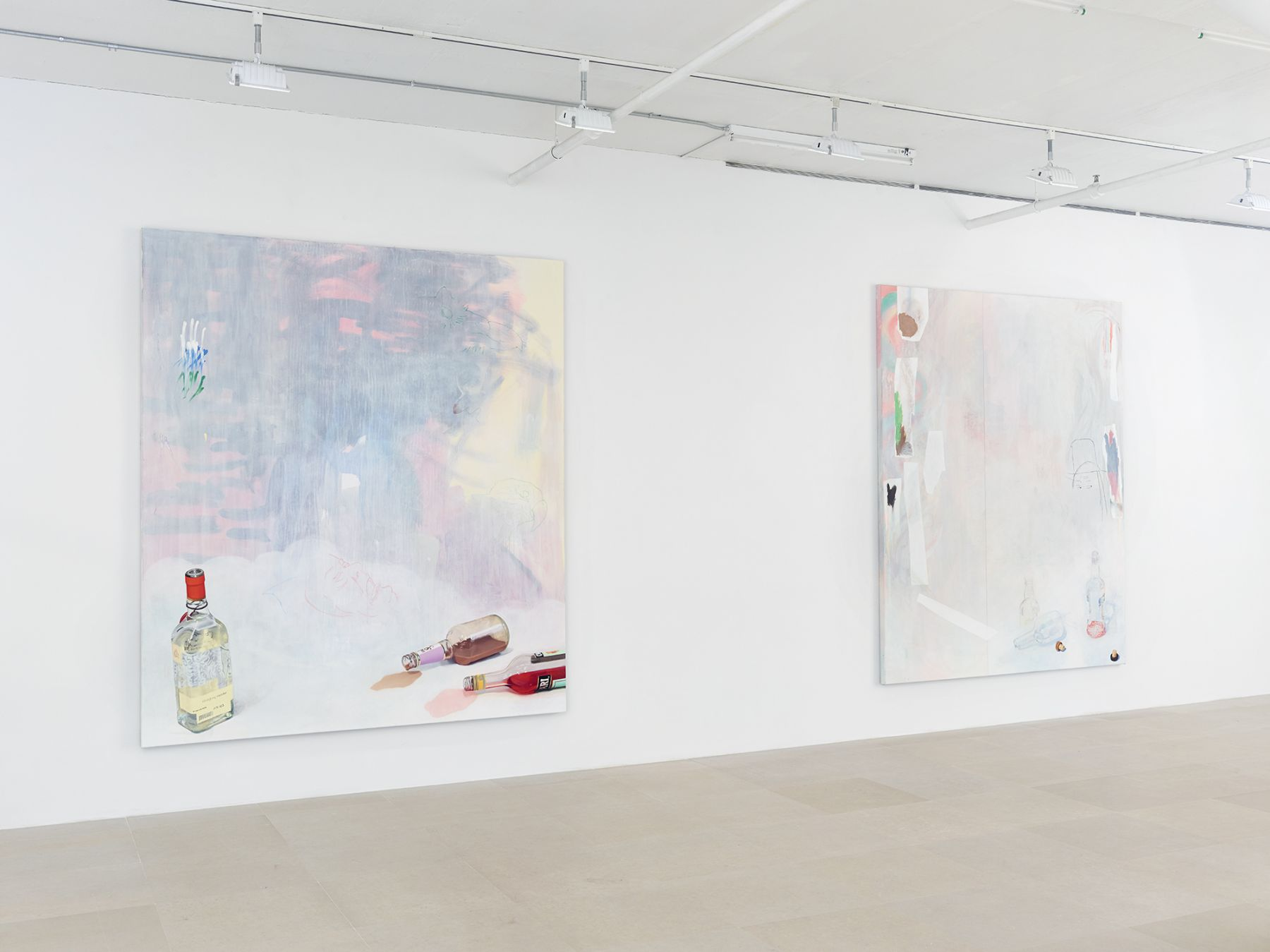 Installation view, on hold, Greene Naftali, New York, 2015