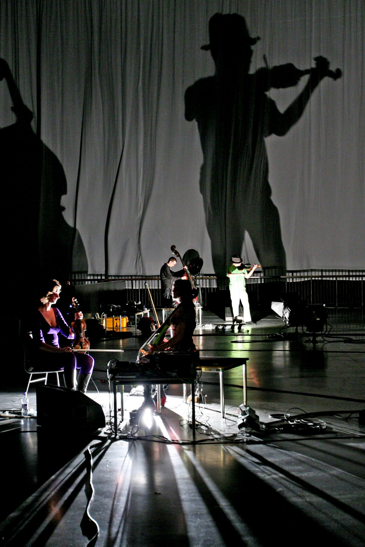 Tony Conrad  Performance view, Tony Conrad: Unprojectable: Projection and Perspective  Tate Modern, London, 2008