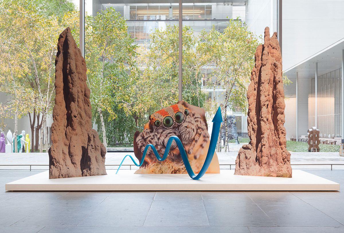 Katja Novitskova, Installation view,Ocean of Images: New Photography 2015, MoMA, New York, 2015
