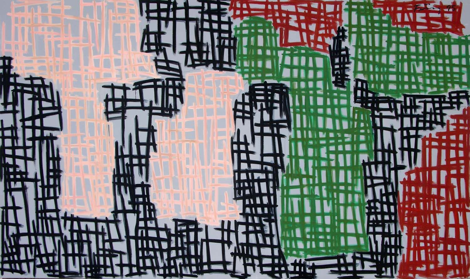 Untitled , 1995 Acrylic on canvas 98 3/4 x 165 3/4 inches