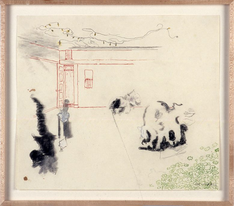 Julie Becker, Untitled (November), 1999, ink and pencil on paper, 14 x 16 1/4 inches