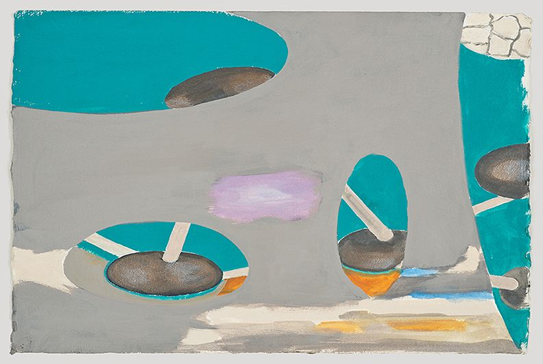 William Leavitt, Bronzea sketch, 2012, Acrylic on paper, 15 x 22 1/2 inches