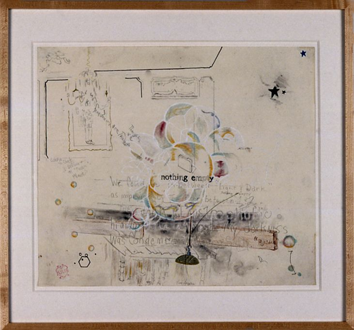 Julie Becker, Untitled (Nothing Empty), 2002, mixed media on paper, 14 x 16 inches