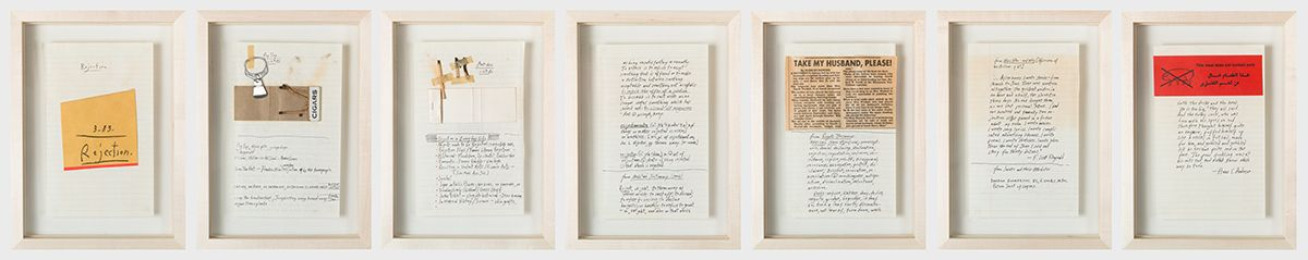 Candy Jernigan, Rejection, March, 1983, Collage on paper 7 Pages, 10 3/8 x 7 1/2 inches each (26.3 x 19 cm)