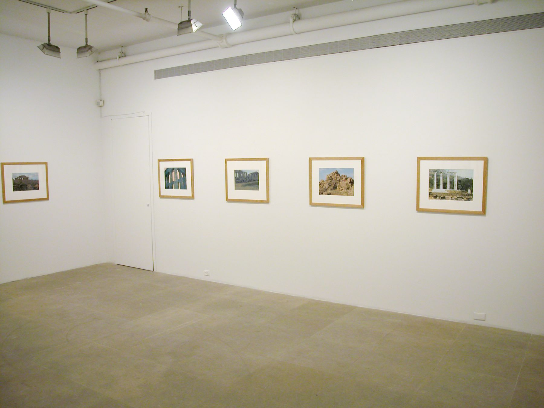 Josef Strau,  Installation view, Photo +,  Greene Naftali, New York, 2003