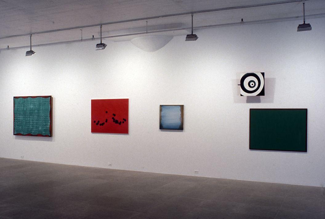 Installation view, Shirley Wiitasalo & Moira Dryer, Greene Naftali Gallery, New York, 1998