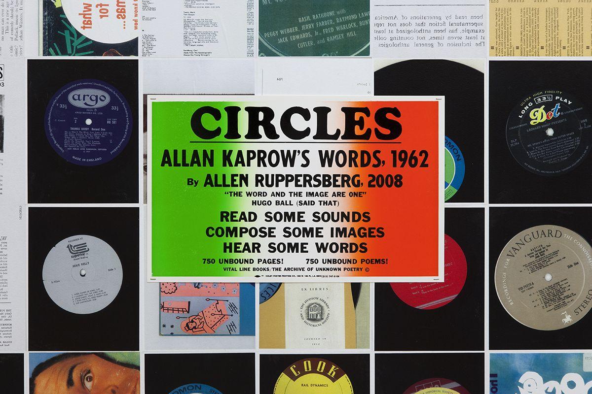 Allen Ruppersberg,CIRCLES: Allan Kaprow's words, 1962, By Allen Ruppersberg, 2008 (detail)