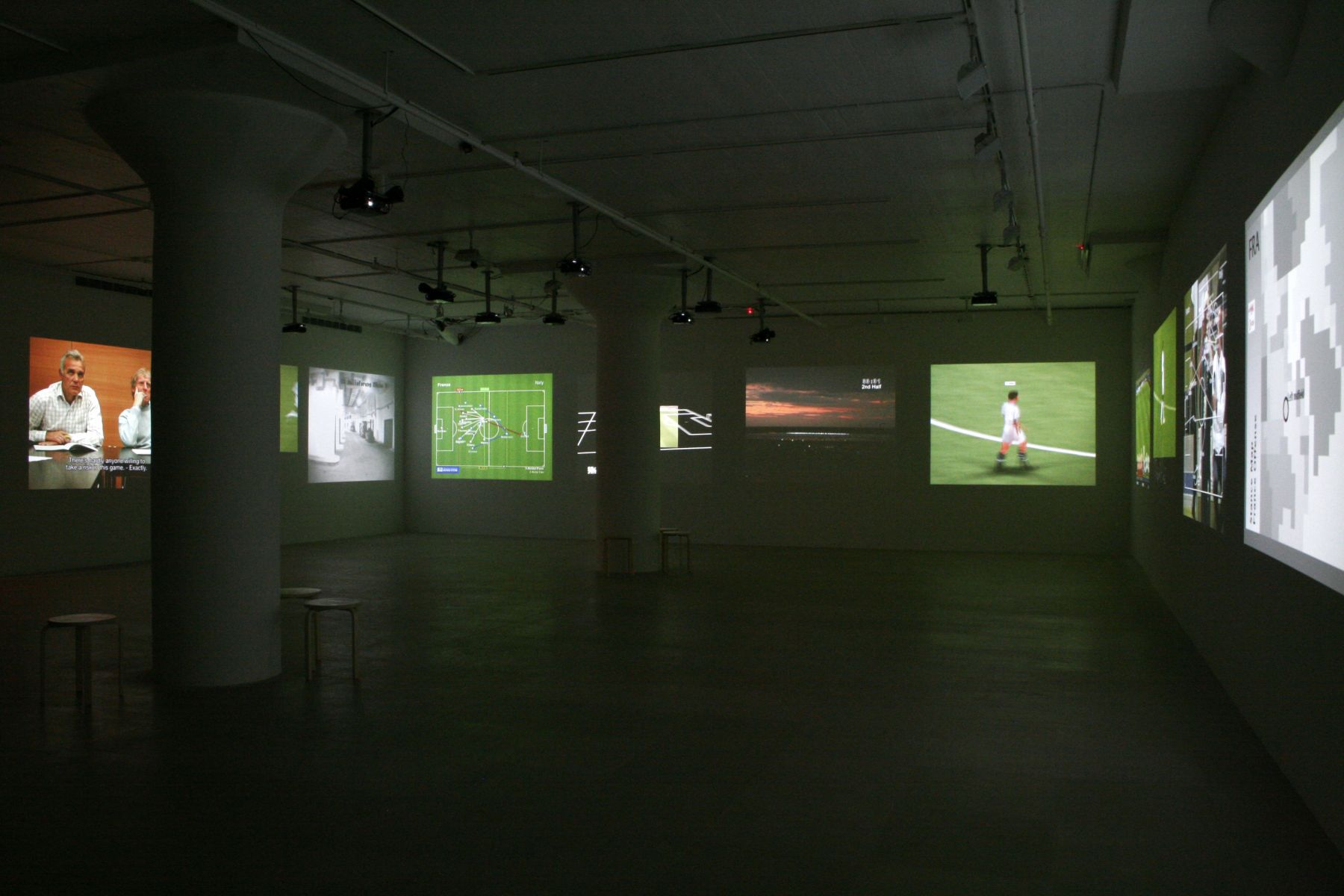 Installation view,Deep Play, Greene Naftali, New York, 2007