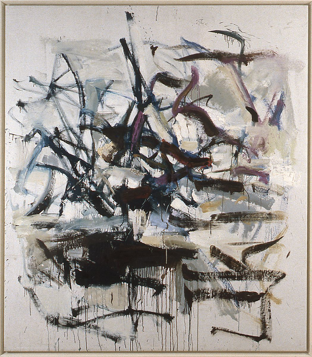 Joan Mitchell, Untitled, 1985, oil on canvas, 77 3/4 x 68 inches