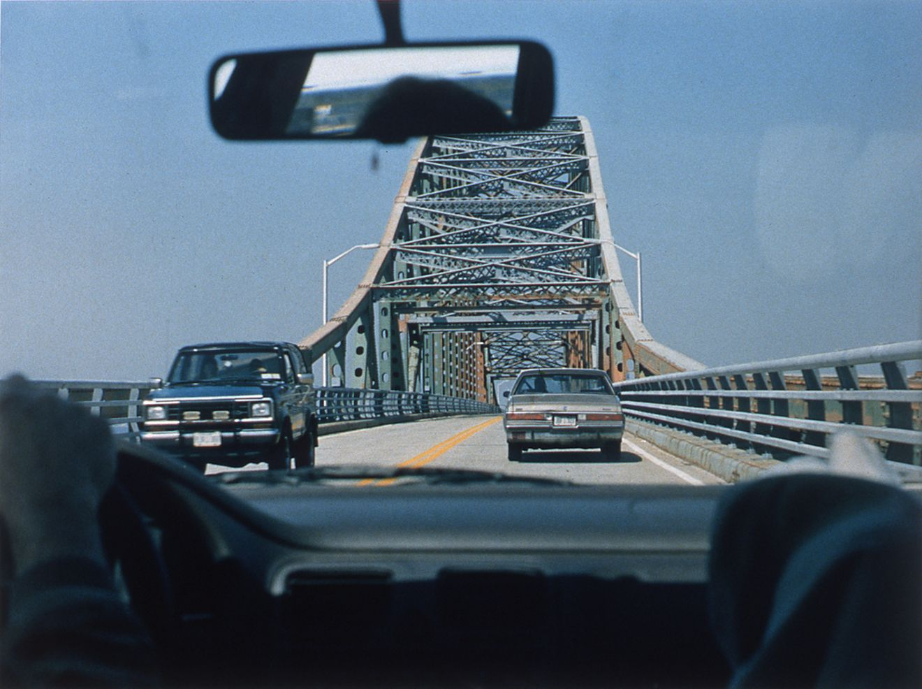 Josephine Meckseper, The Great Escape (Bridge), 1996, c-print, 30 x 40 inches