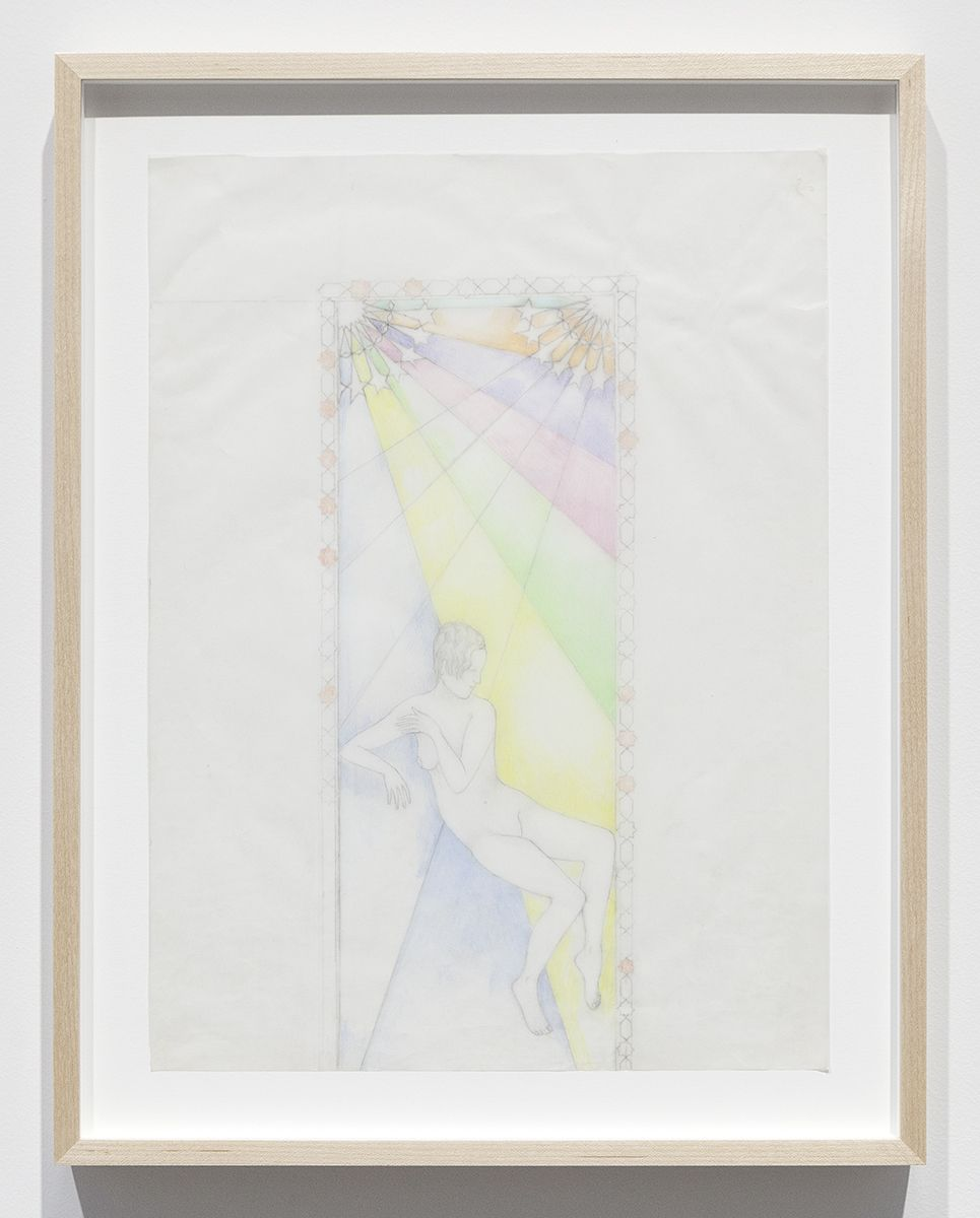 Katharina Wulff Untitled, 2015 Pencil, colored pencil on transparent paper Paper: 14 3/4 x 10 7/8 inches (37.5 x 27.6 cm) Frame: 17 3/4 x 13 7/8 x 1 3/8 inches (45.1 x 35.2 x 3.5 cm)
