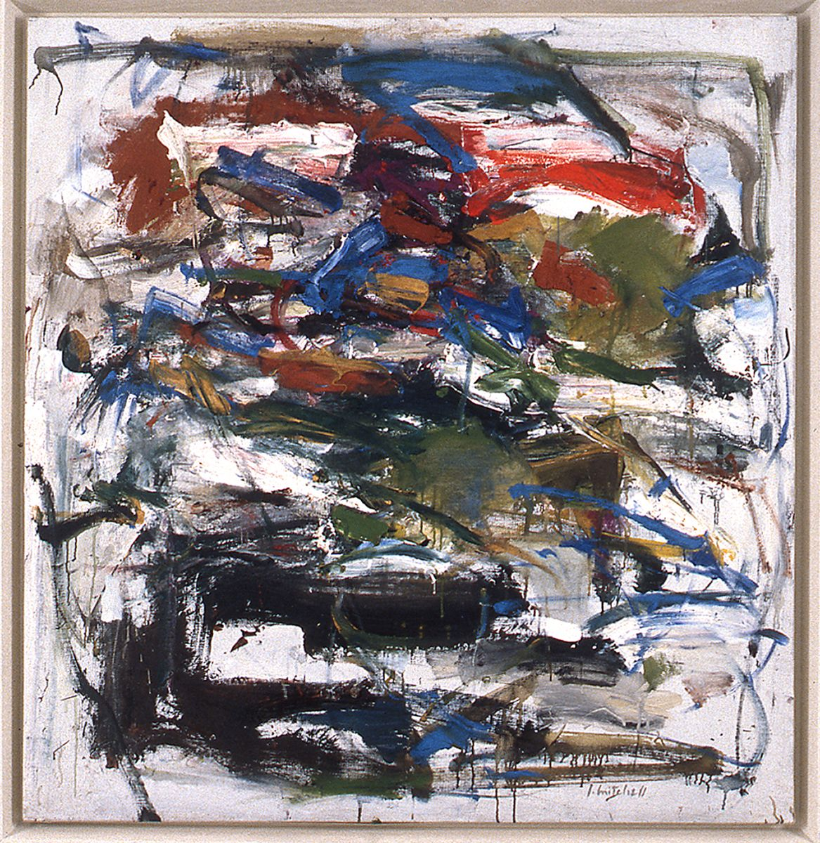 Joan Mitchell, Untitled, 1958, oil on canvas, 77 3/4 x 68 inches