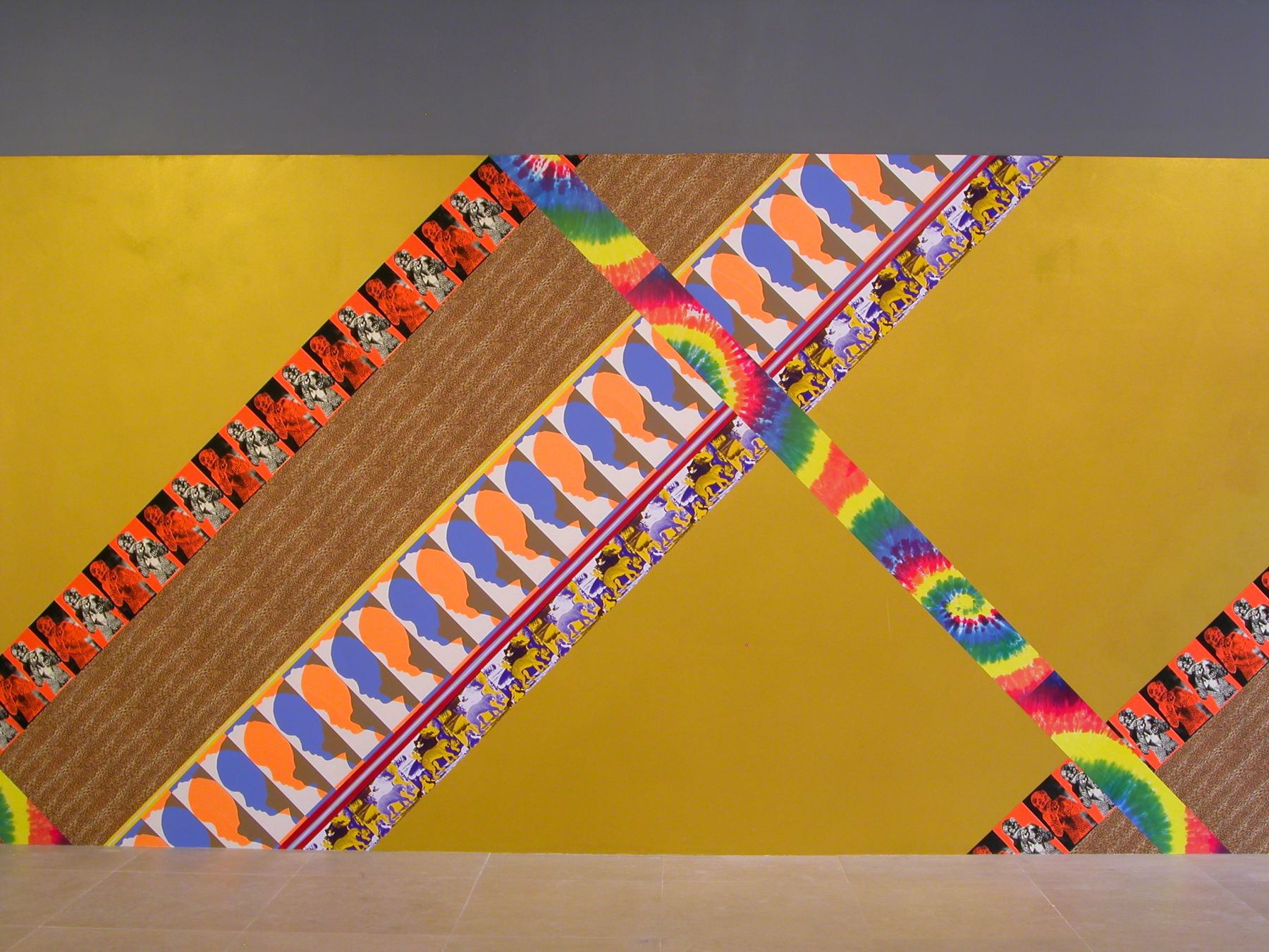 jim drain, I Would Gnaw on My Hand (main gallery), 2007, Silkscreen on paper, latex paint, Dimensions variable