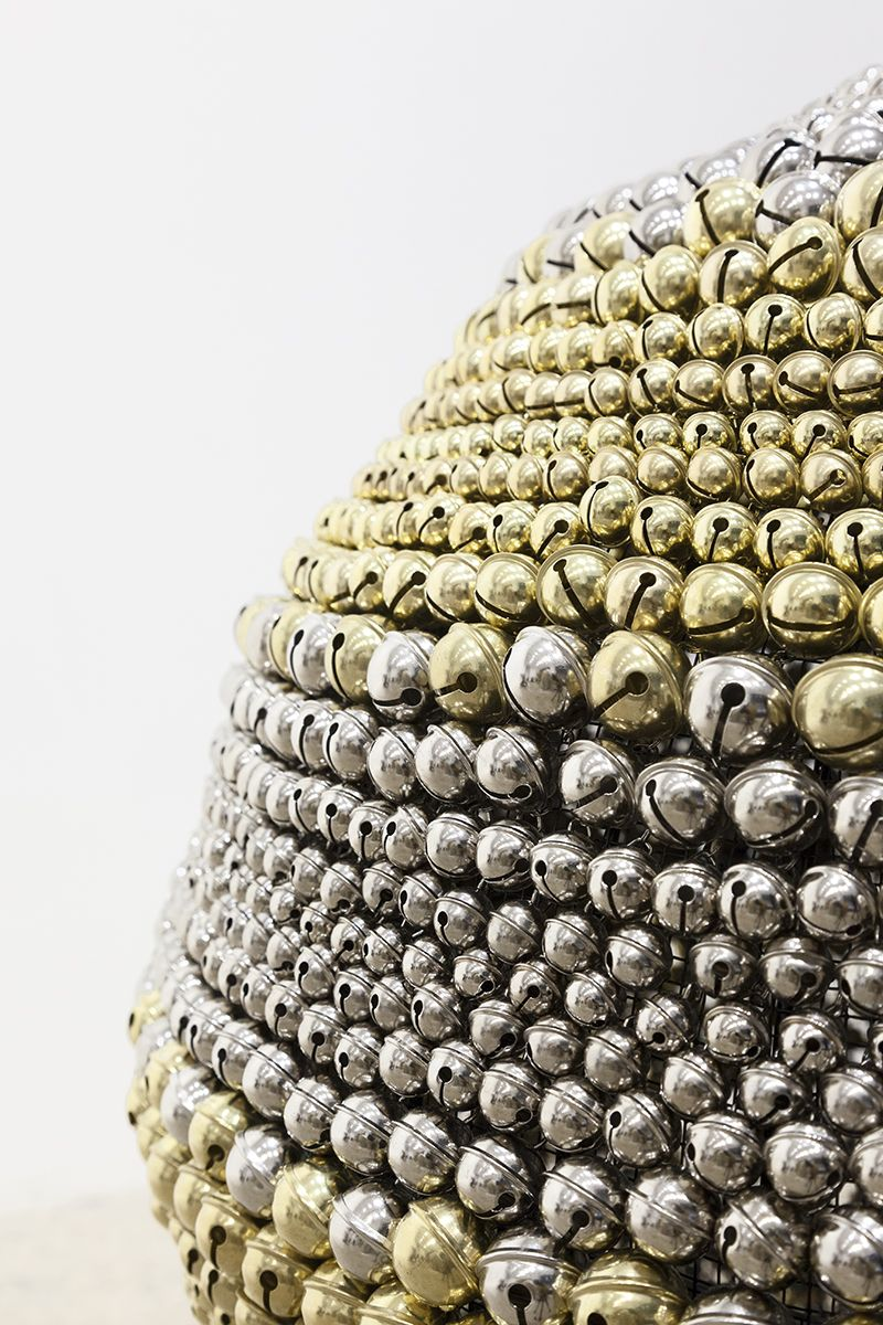 Haegue Yang,Sonic Sphere – Horizontally-striped Brass and Nickel, 2015 (detail)