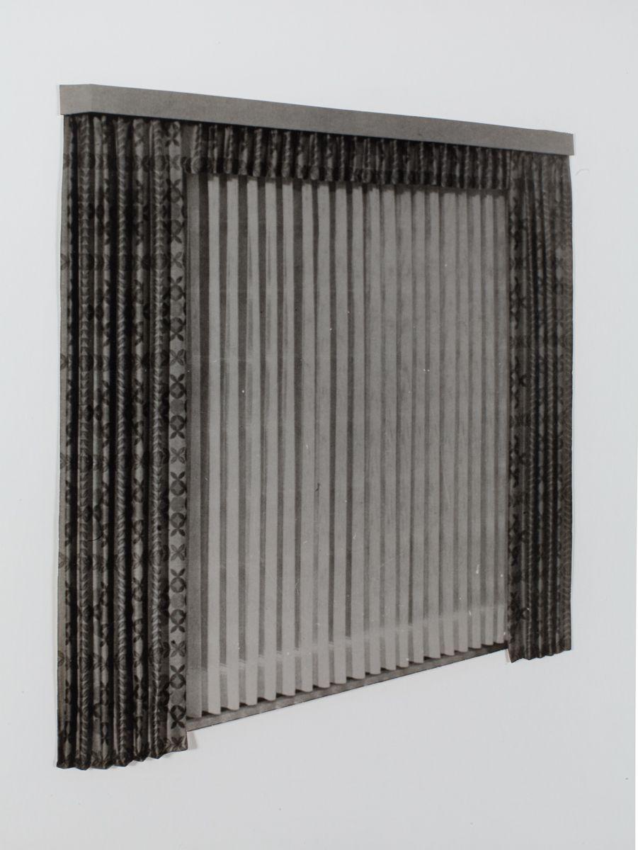 Konrad Lueg Untitled (Gardine schräg), Unknown Photo paper Paper: 11 3/8 x 8 3/8 inches (29 x 21.5 cm) Frame: 16 3/8 x 14 1/4 inches (41.5 x 36 cm)