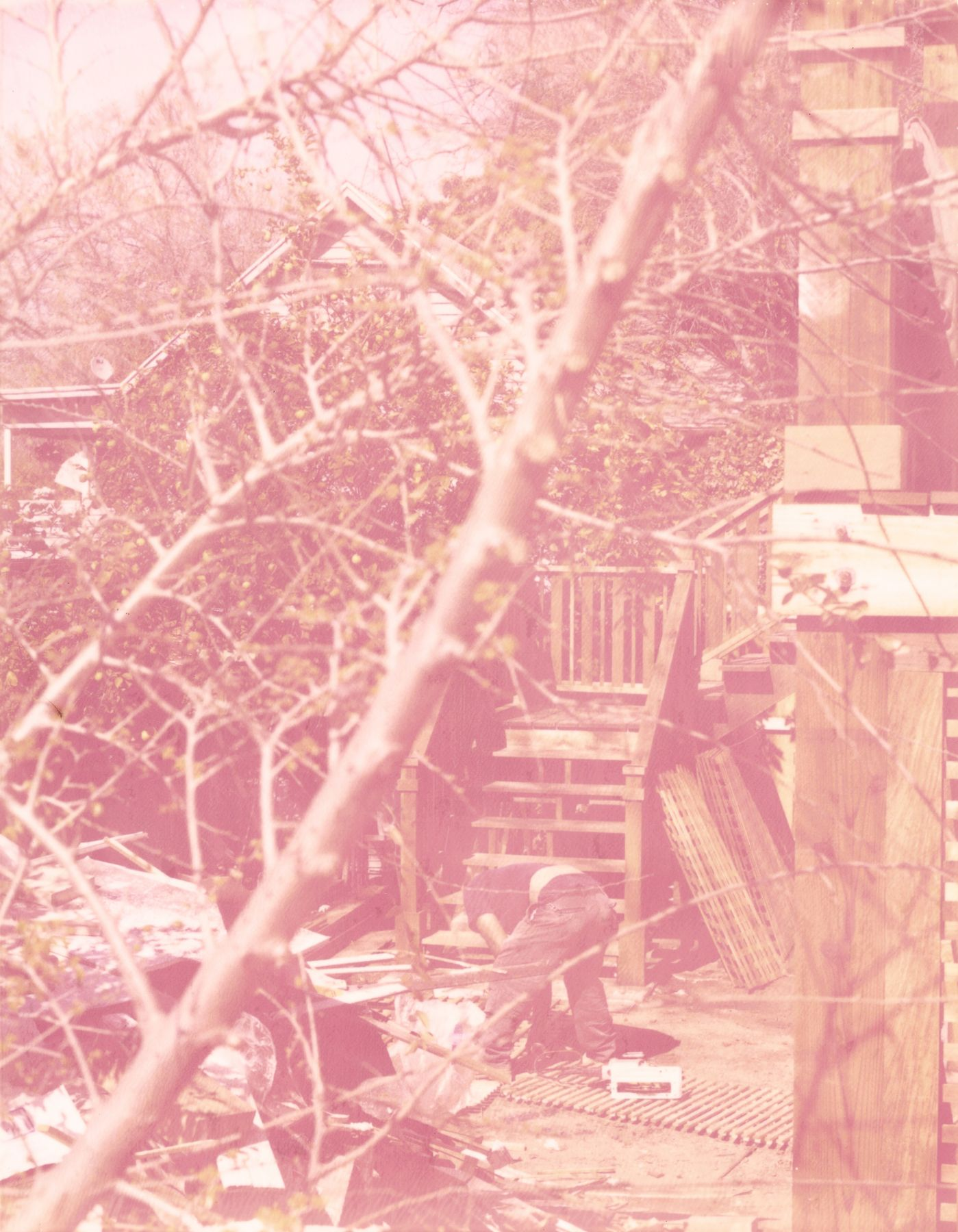 Roe Ethridge, LA Backyard (Polaroid), 2006-2007, C-print, 30.5 x 24.5 inches