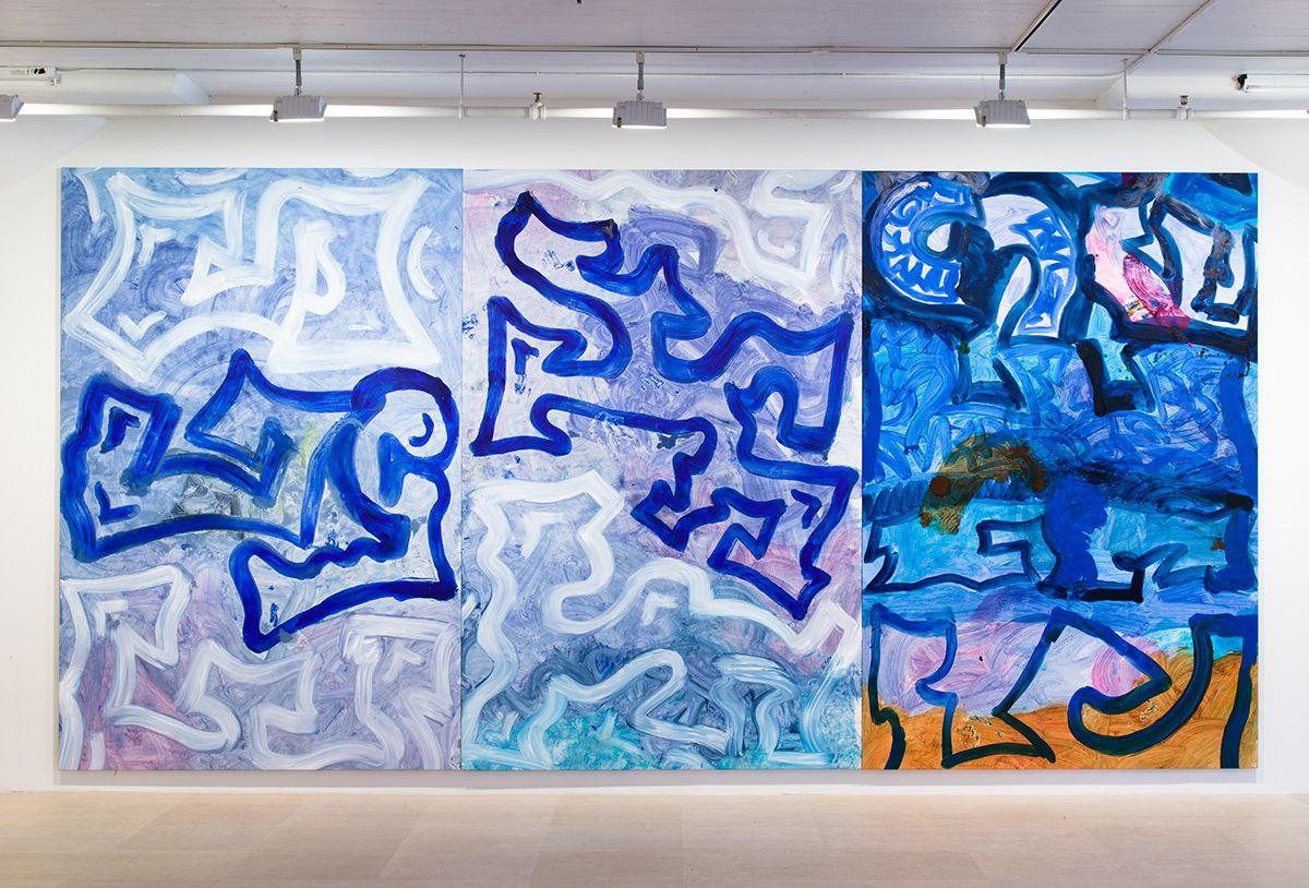 Ida Ekblad, Installation view, Greene Naftali, New York, 2014