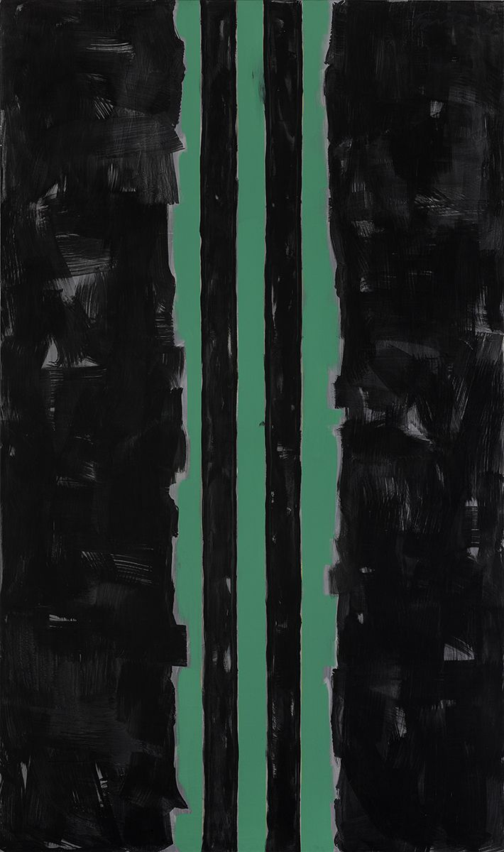 Untitled , 2001 Acrylic on canvas 133 7/8 x 78 3/4 inches