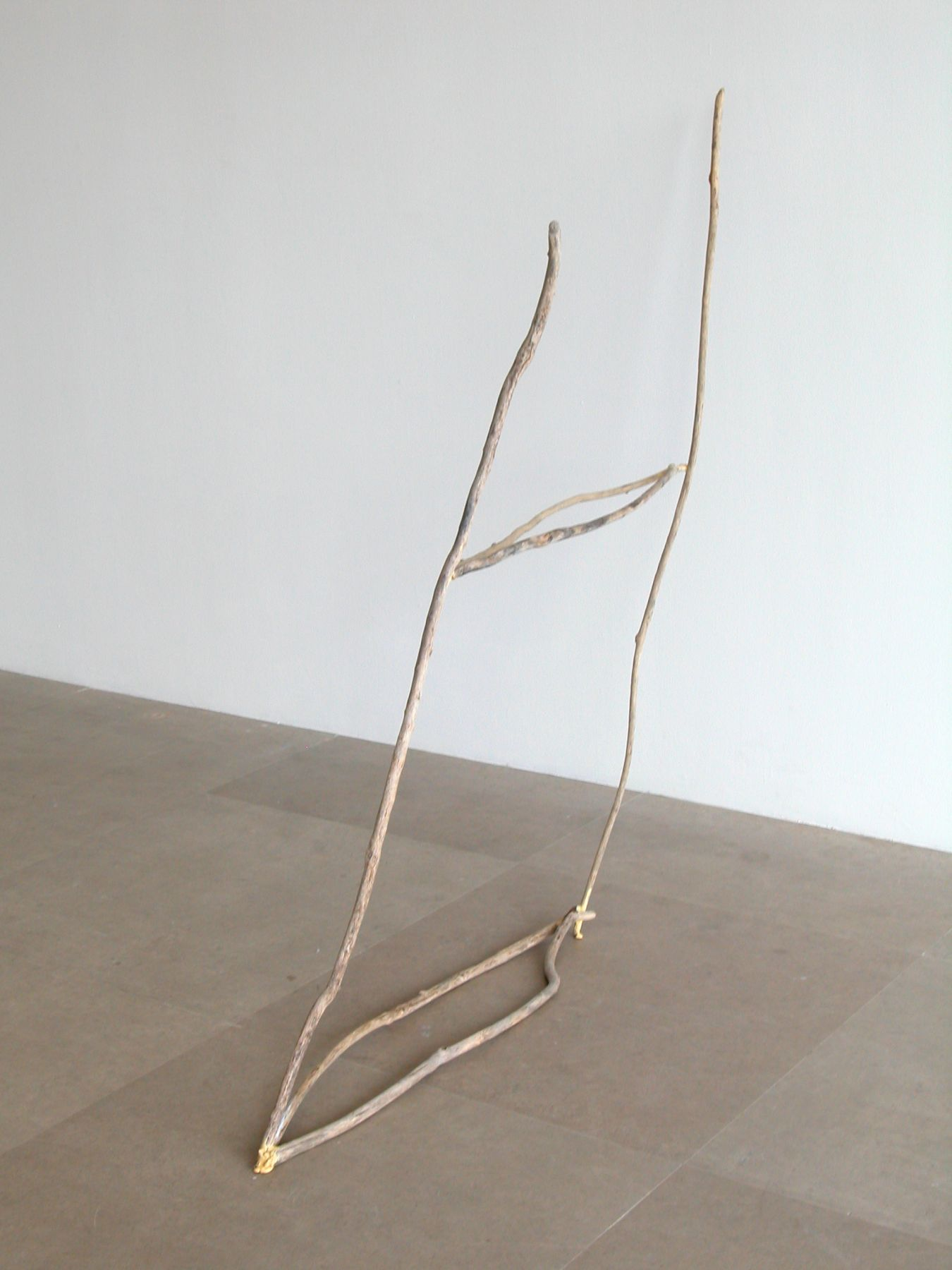 Held Made the Road, 2008, Sticks, 44 x 42 x 7 inches