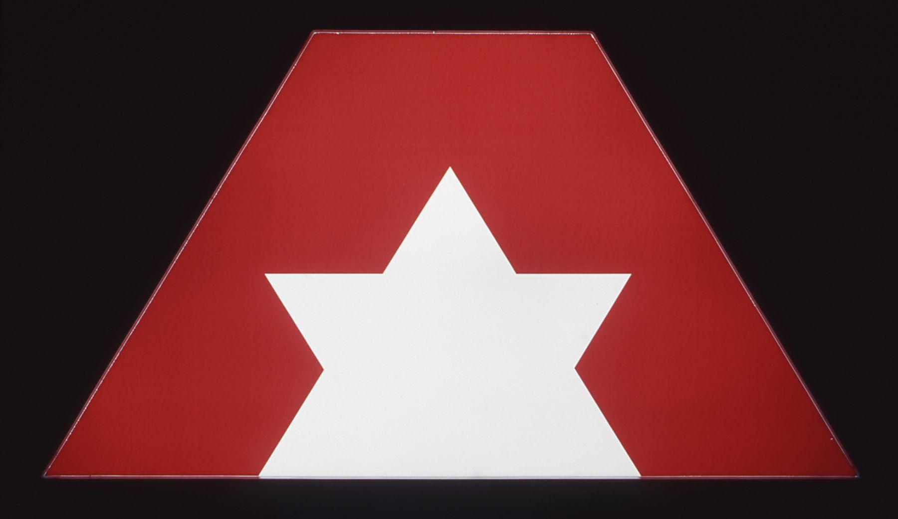 Daniel Pflumm  Untitled (Advantage Rent a Car), 2001 Lightbox 26 x 48 x 6 inches (66 x 121.92 x 15.24)