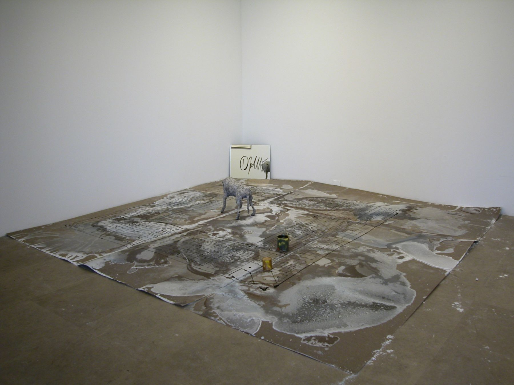 Dani Jakob,  La misère de l`homme sans dieu, 2000,   mixed media installation,   dimensions variable