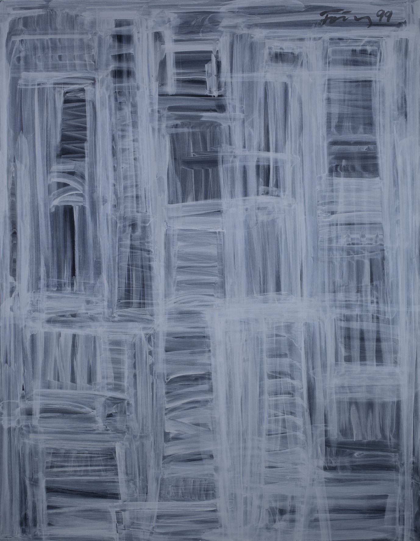 Untitled, 1999 Acrylic on linen 70 7/8 x 55 1/8 inches