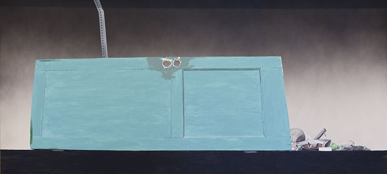 Ed Ruscha, Psycho Spaghetti Western #4, 2010, Acrylic on canvas, 54 x 120 inches