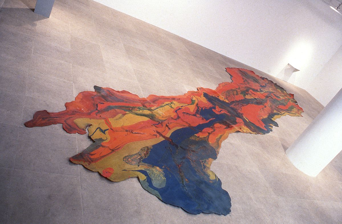 Lynda Benglis Contraband, 1969, poured pigmented latex, 33.9 x 9.1 inches