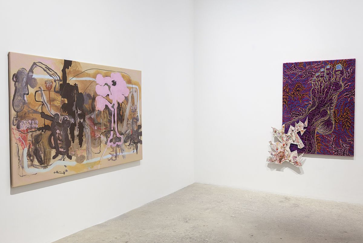 Installation view, Infected Foot, Greene Naftali, 2017