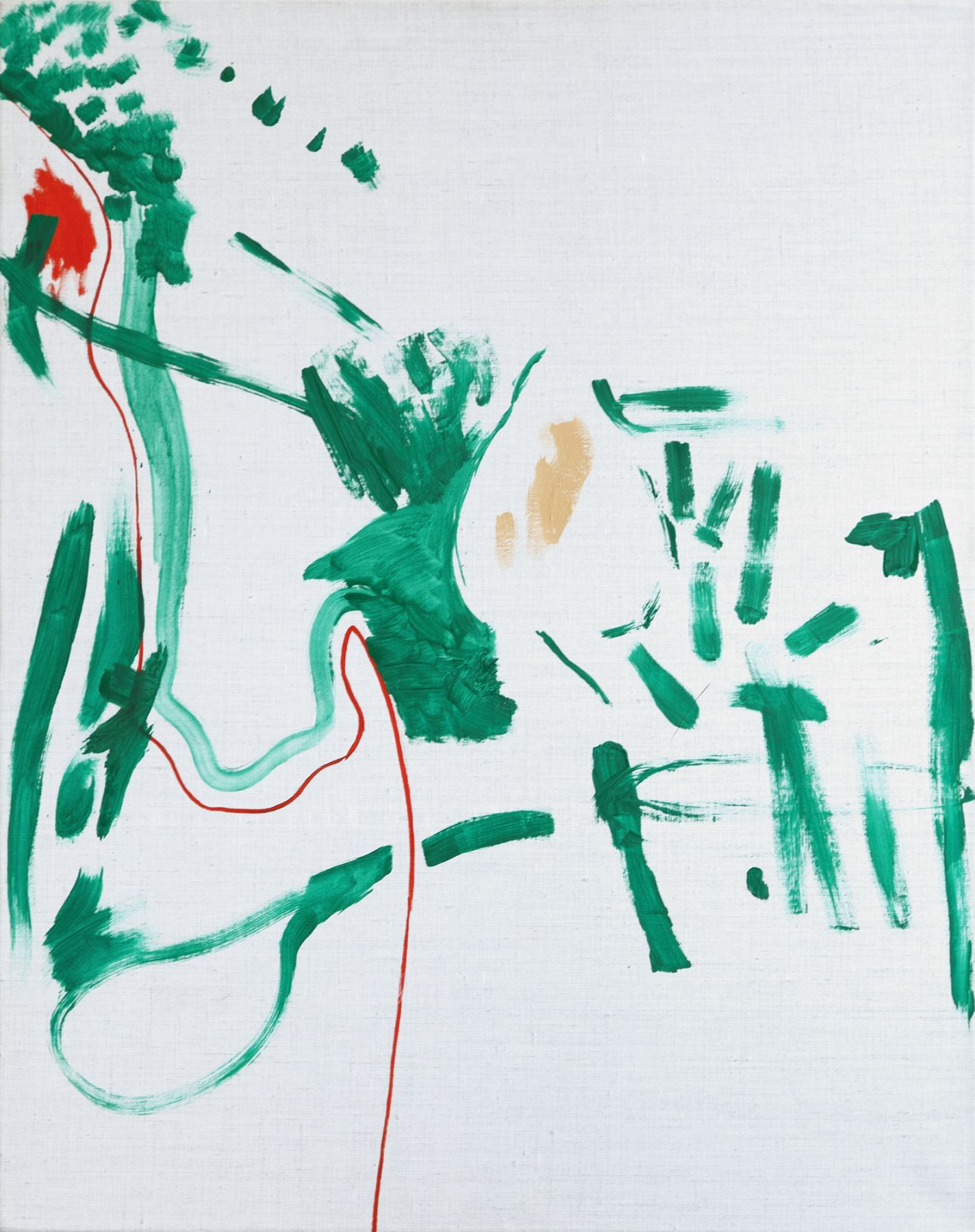 Michael Krebber Untitled, 1991 Oil on canvas 36 1/4 x 28 3/4 inches (92 x 73 cm)