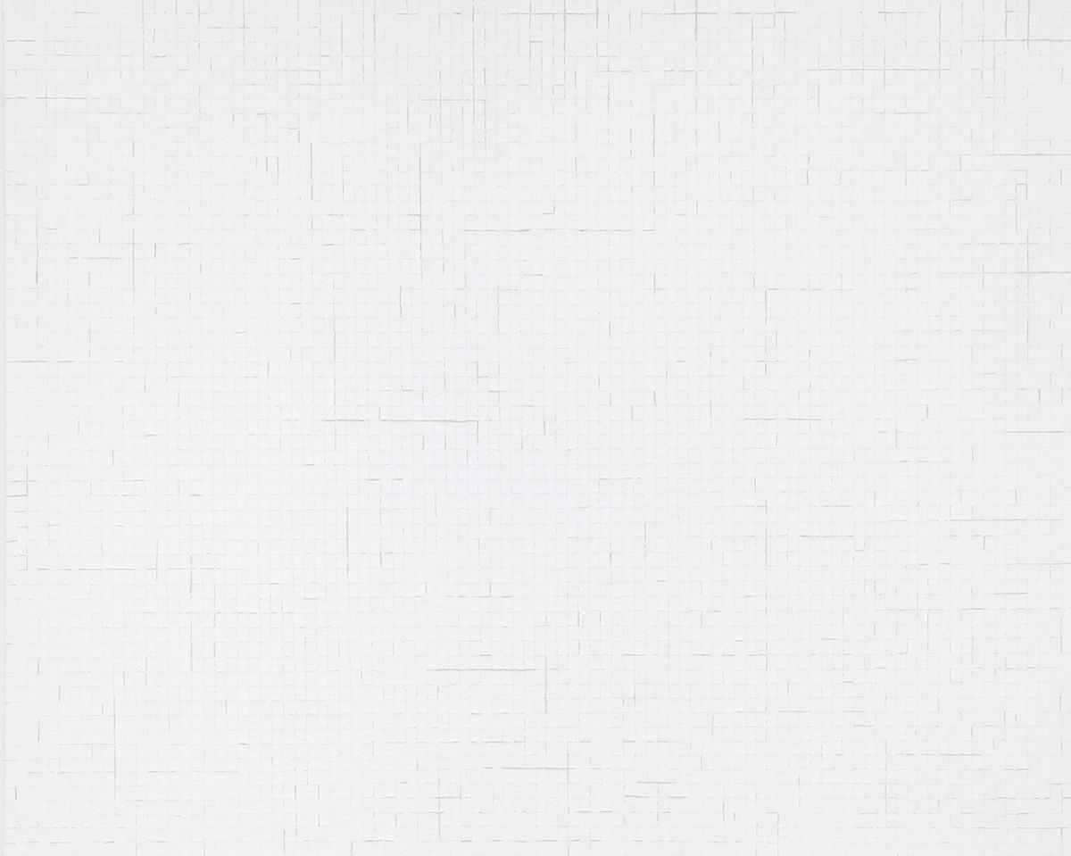 Chung Sang-Hwa Untitled 2015-10-2, 2015 Acrylic and kaolin on canvas 51 3/8 x 63 7/8 inches (130.3 x 162.2 cm)