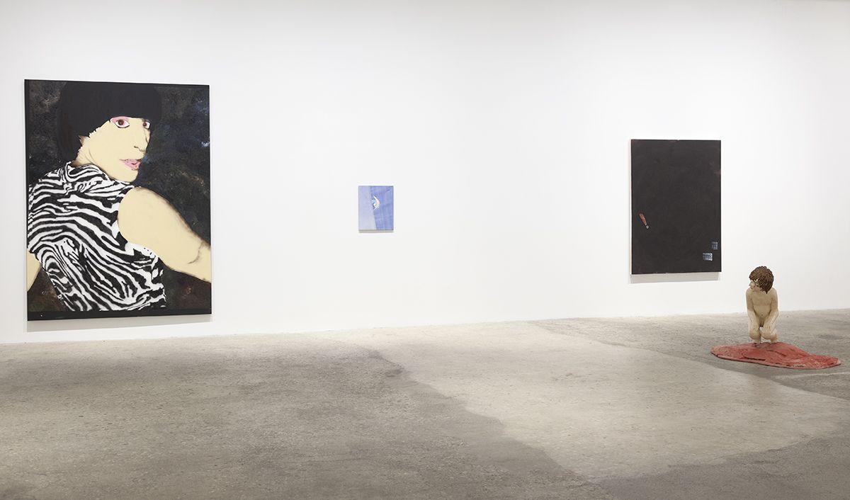 Installation view, Infected Foot, Greene Naftali, New York, 2017
