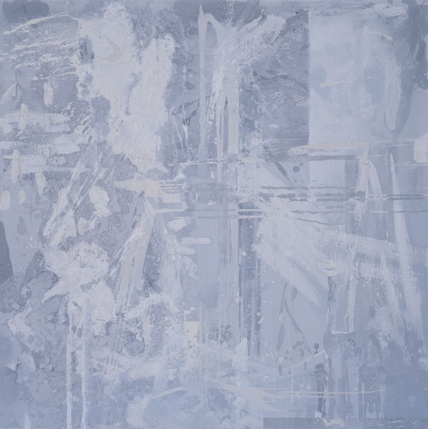 Jacqueline Humphries,  Untitled (gray #1), 1997, Oil on linen, 72 x 72 inches