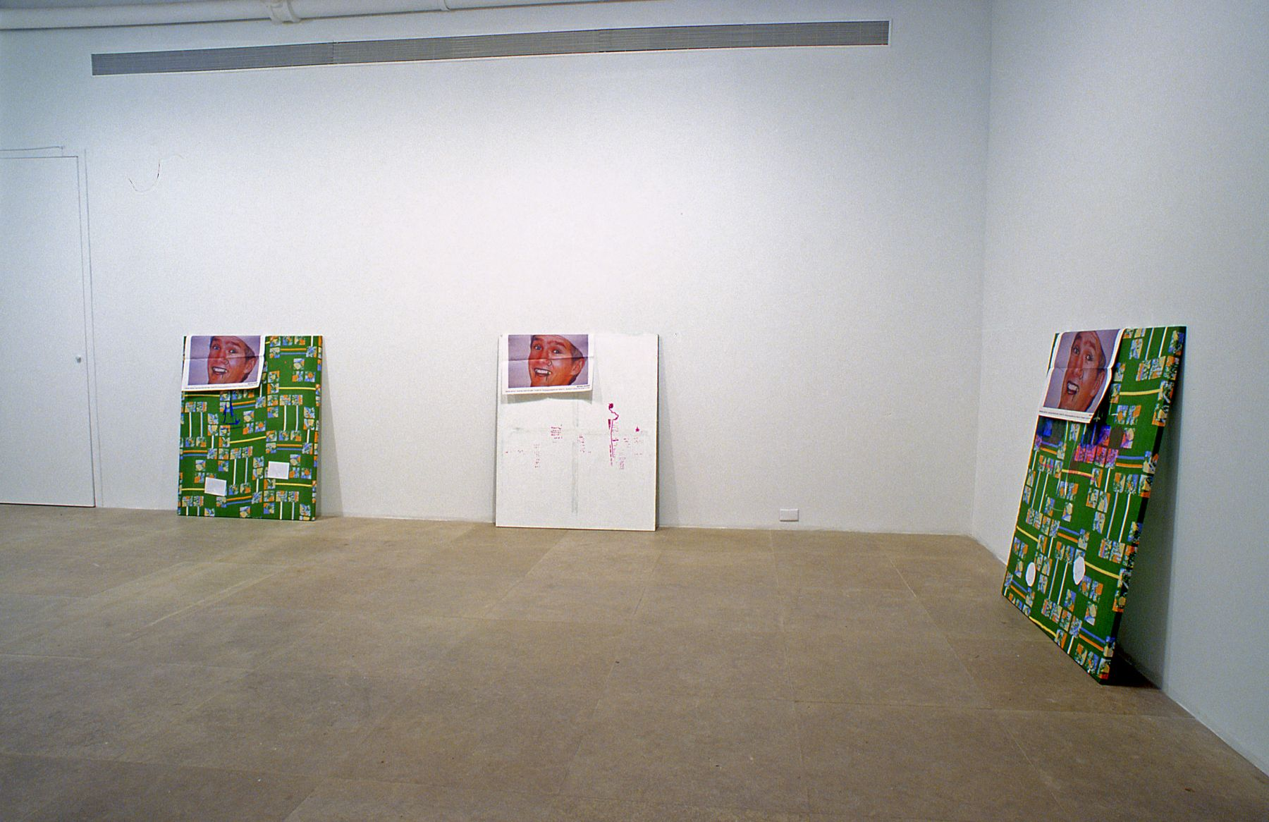 Installation view, Here It Is: The Painting Machine,  Greene Naftali, New York, 2003
