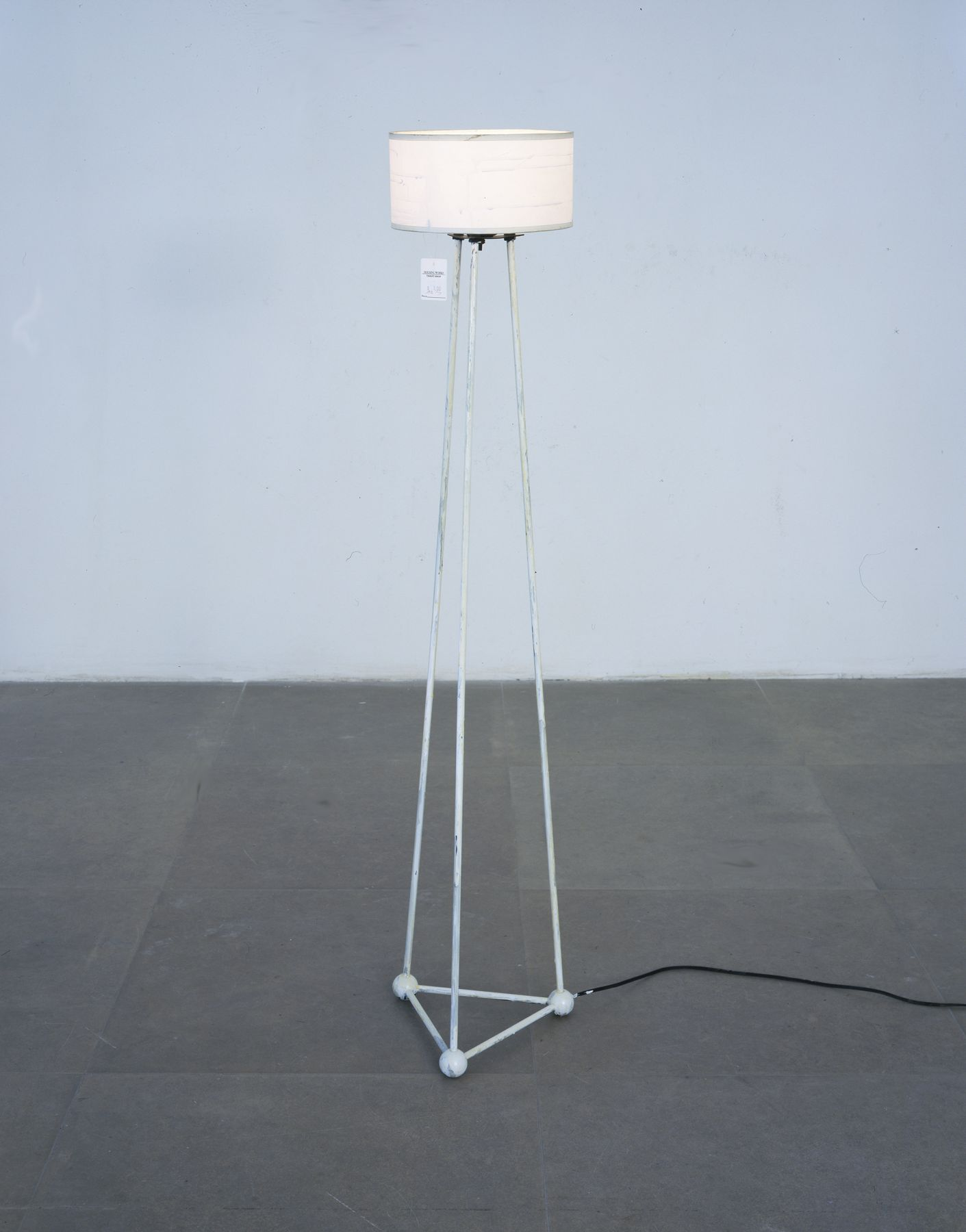 Reading Lamp, 2006, mixed media lamp, 49 x 9 x 9 inches (124.5 x 22.9 x 22.9 cm)
