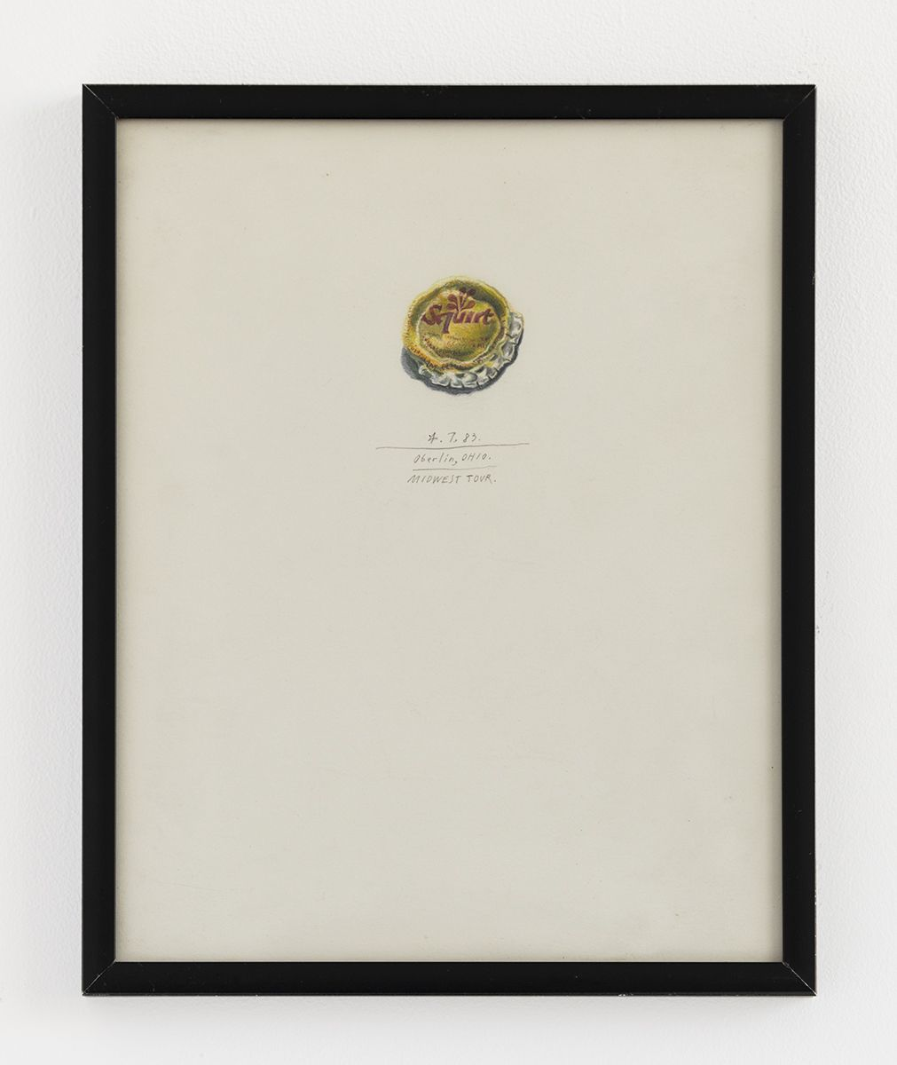 Candy Jernigan,  Oberlin, Ohio, Midwest Tour, 1983,  Colored pencil on paper,  Image: 10 x 8 inches (25.4 x 20.3 cm),  Frame: 10 1/2 x 8 1/2 x 3/4 inches (26.7 x 21.6 x 1.9 cm)