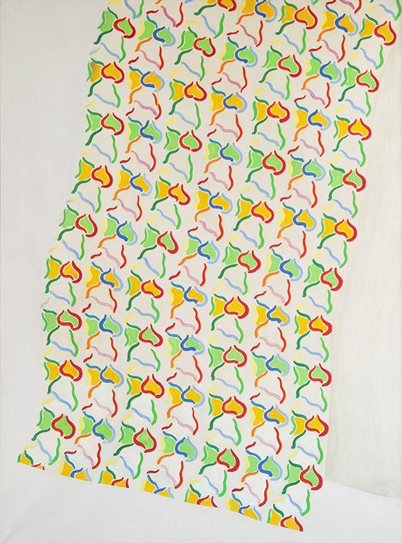Konrad Lueg, Handtuch, 1965, Casein color on canvas, 78 3/4 x 57 1/8 inches