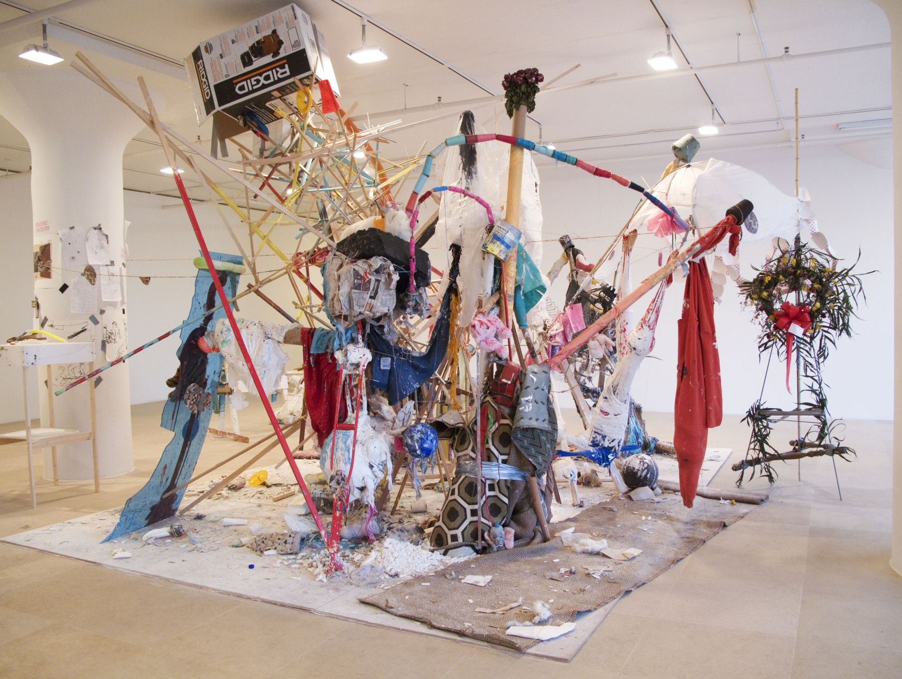 Untitled, 2010, mixed media, 137 x 267 x 198 inches