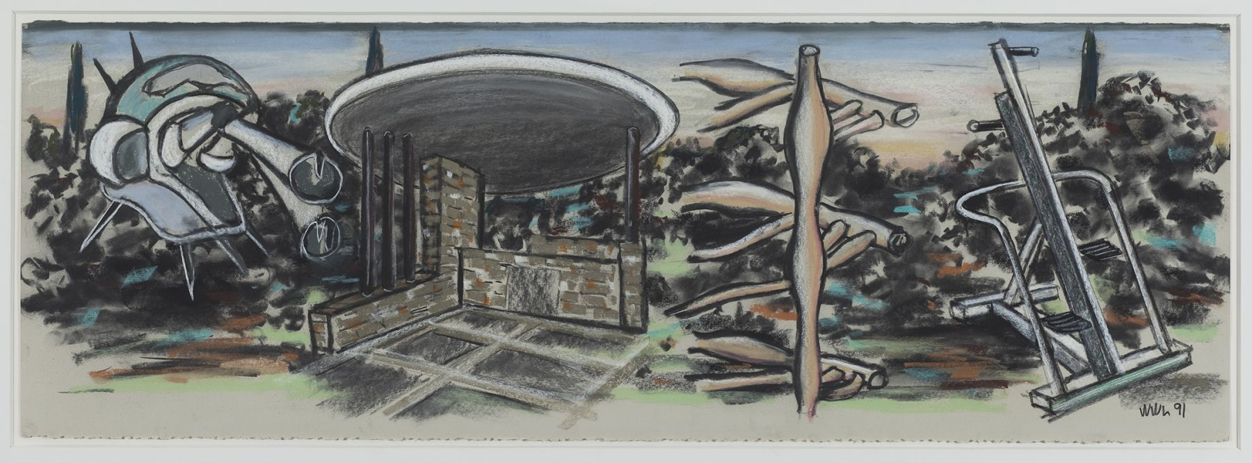 William Leavitt Landscape with 4 Objects, 1991