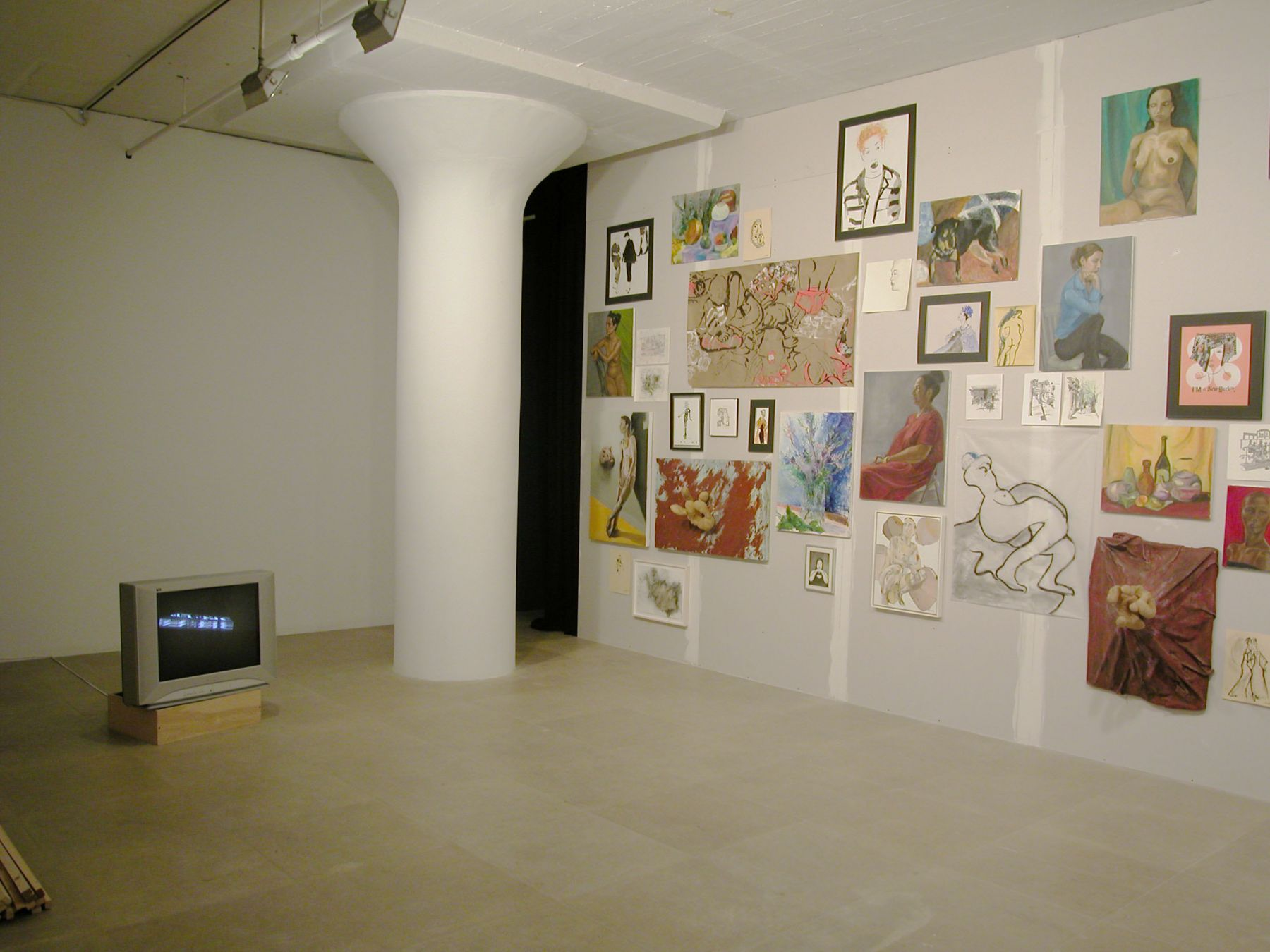 Installation view, Don't Think About Me, I'm Alright,  Greene Naftali, New York, 2004
