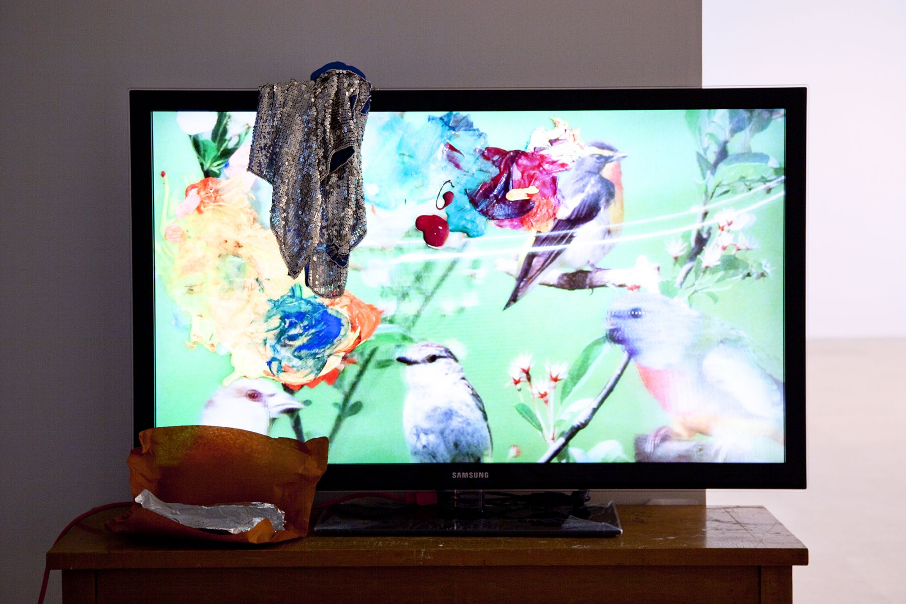 Trisha Baga, Peacock 2011 (detail), Video installation, Dimensions variable