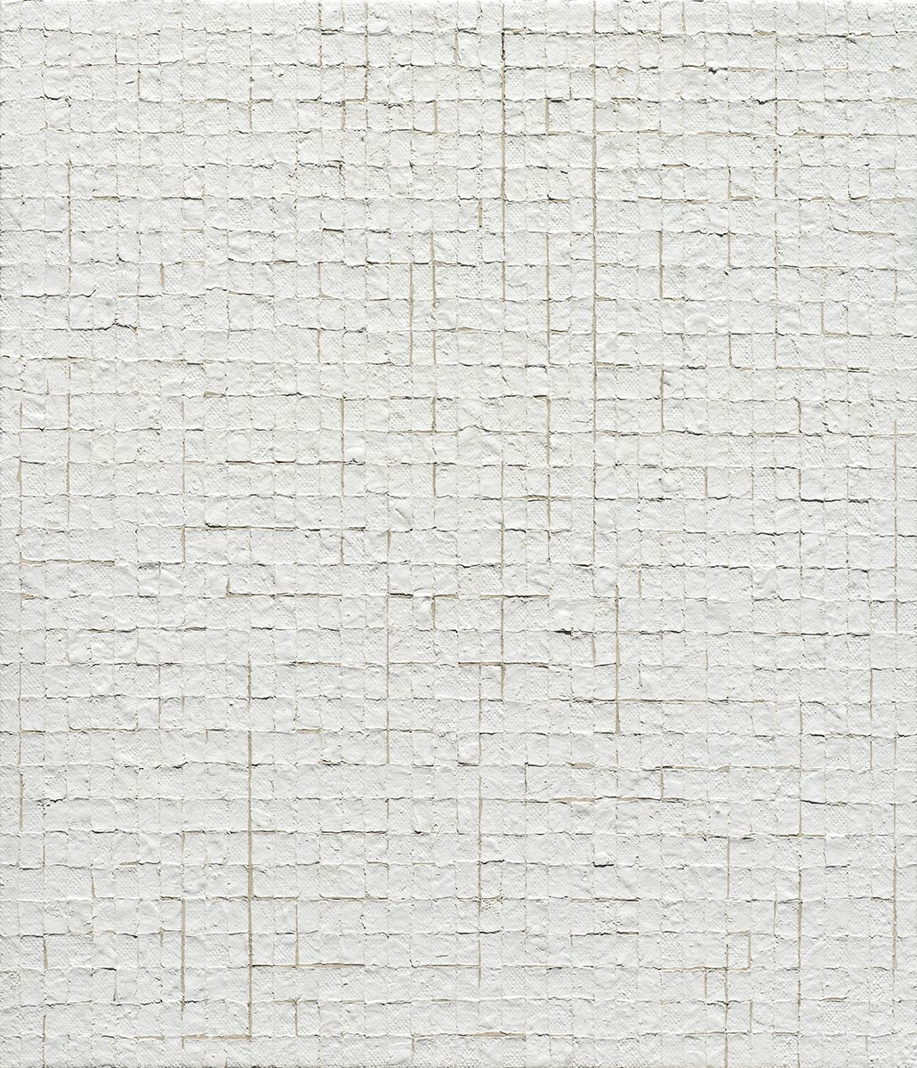 Chung Sang-Hwa Untitled 2015-04-10, 2015 Acrylic and kaolin on canvas 20 7/8 x 17 7/8 inches (53 x 45.5 cm)