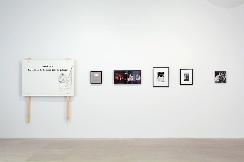 David Robbins, Five Instances of Concrete Comedy In the Form of Signs, 1993, mixed media, installation dimensions variable