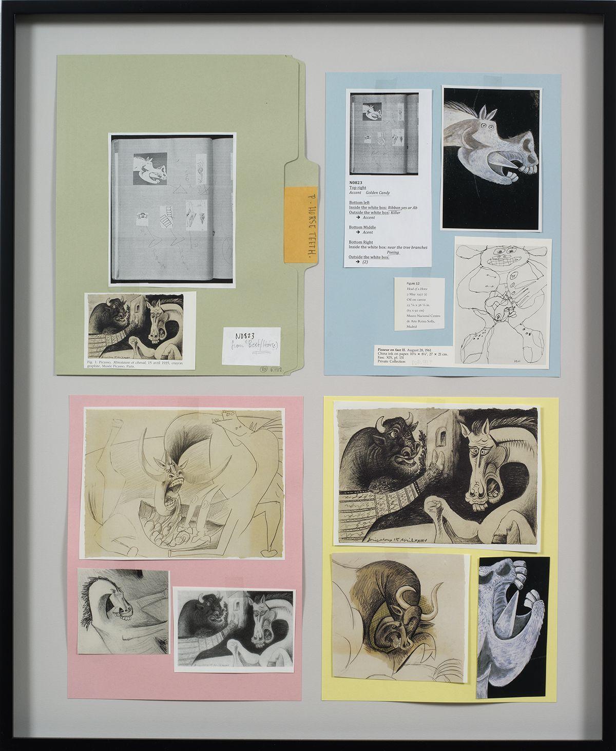 Ankoku 83 (Resource folder: Horse-teeth), 2012, Collage, 27 1/8  x 22 1/4 x 1 1/2 inches (68.9 x 56.5 x 3.8 cm)