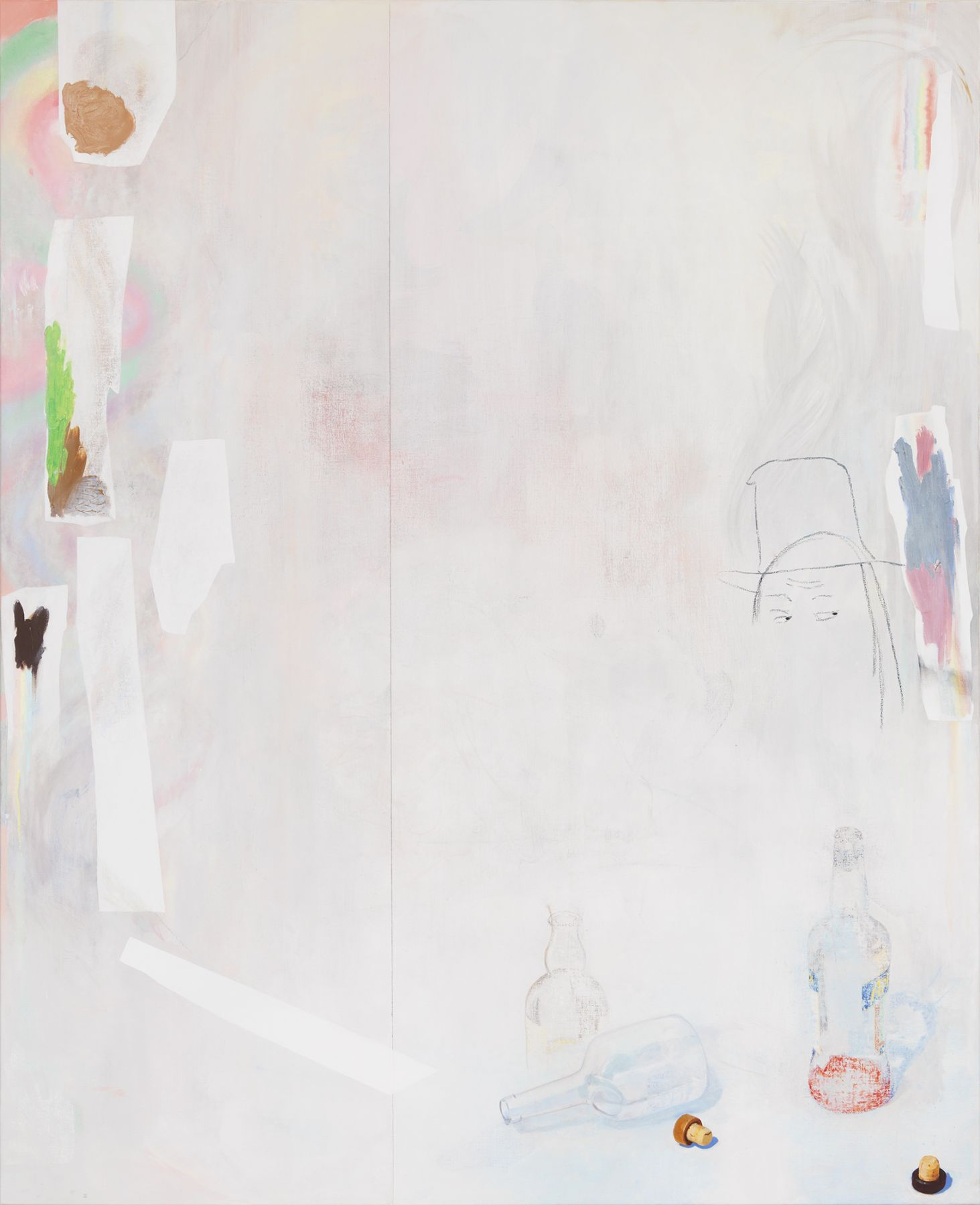 Monika Baer In Pieces, 2013-2015 Oil on canvas 98 3/8 x 80 3/8 inches (250 x 204 cm)