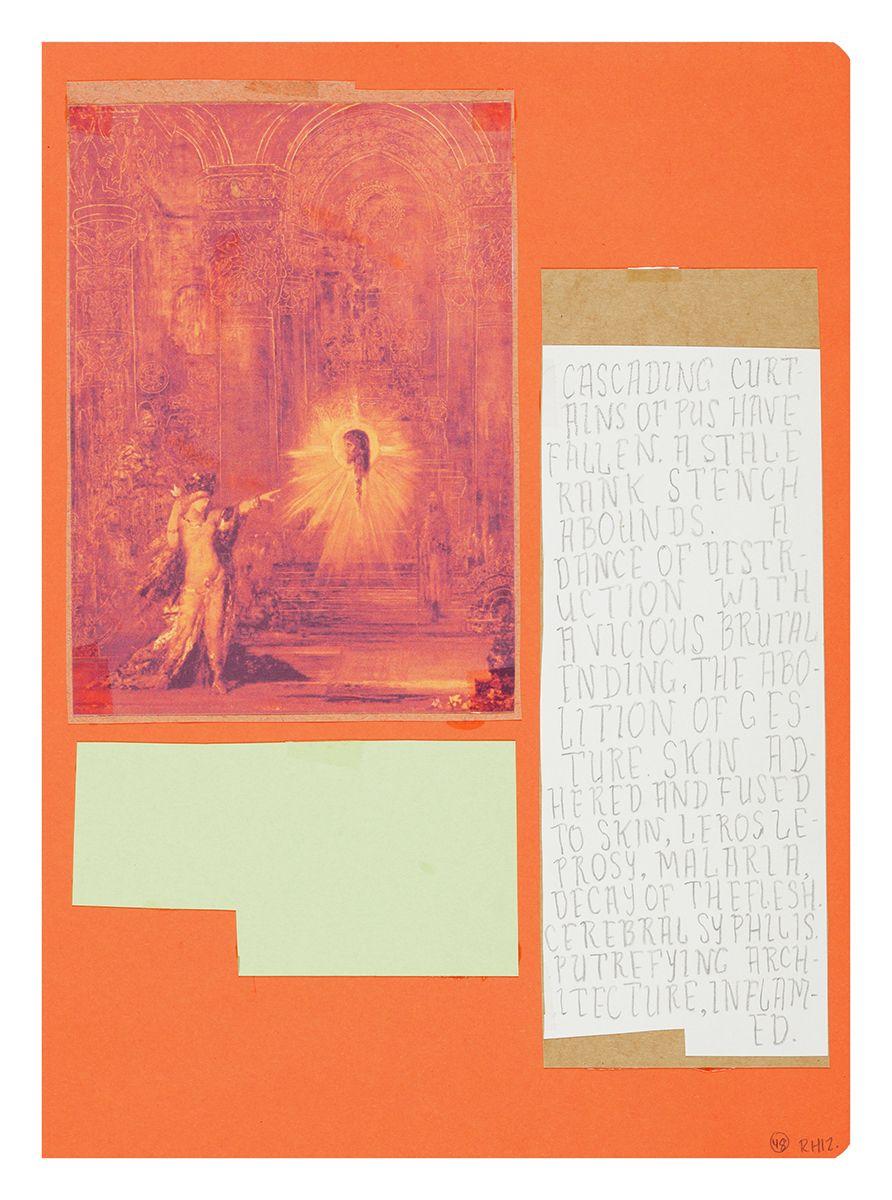 Ankoku 48 (Apparition), 2012, Collage, 18 x 14 5/8 x 1 inches (45.7 x 37.1 x 2.5 cm)