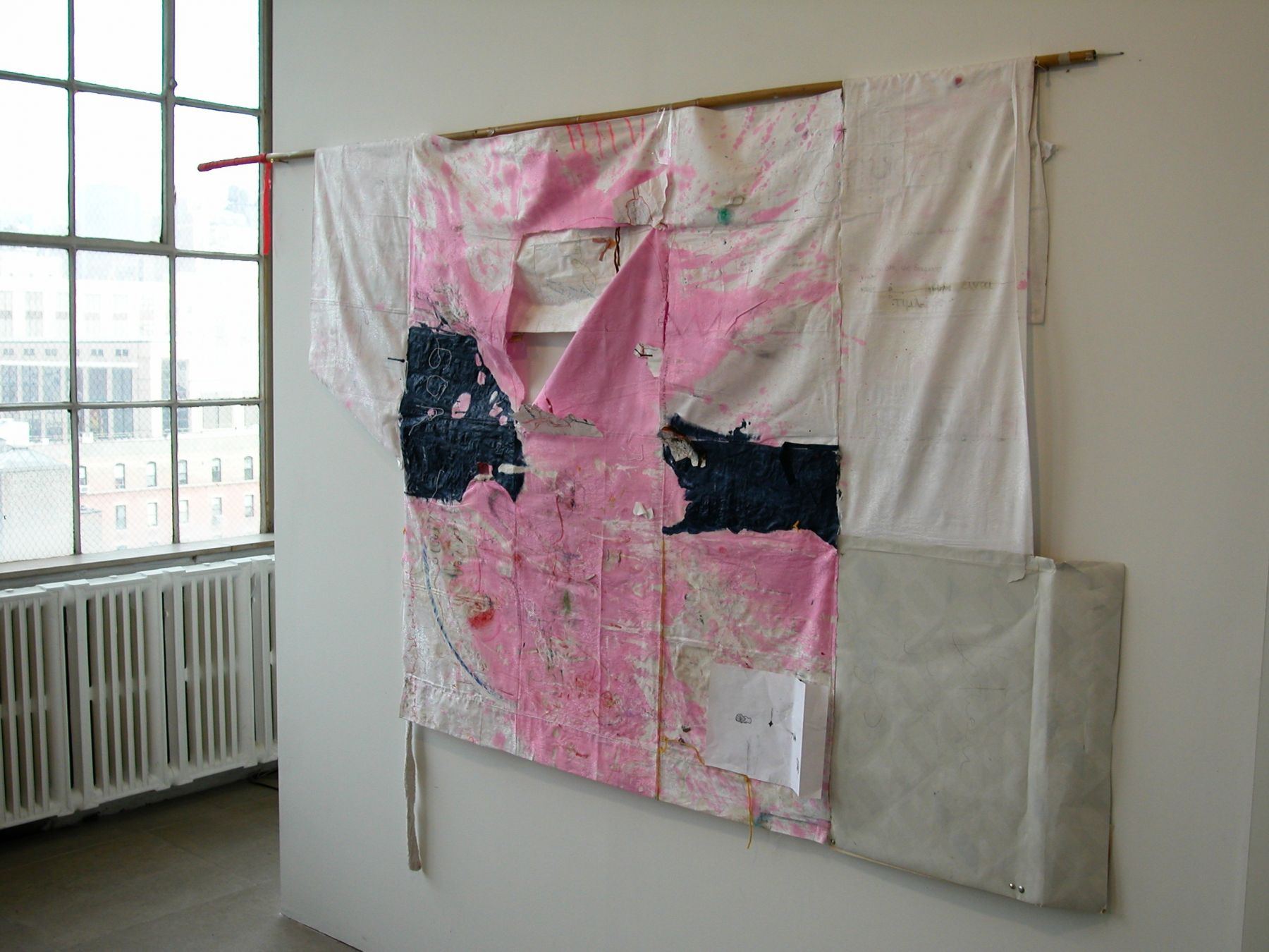 Helena Huneke,  Two Sided Kimono, 2003,  mixed media,  69 x 99 inches