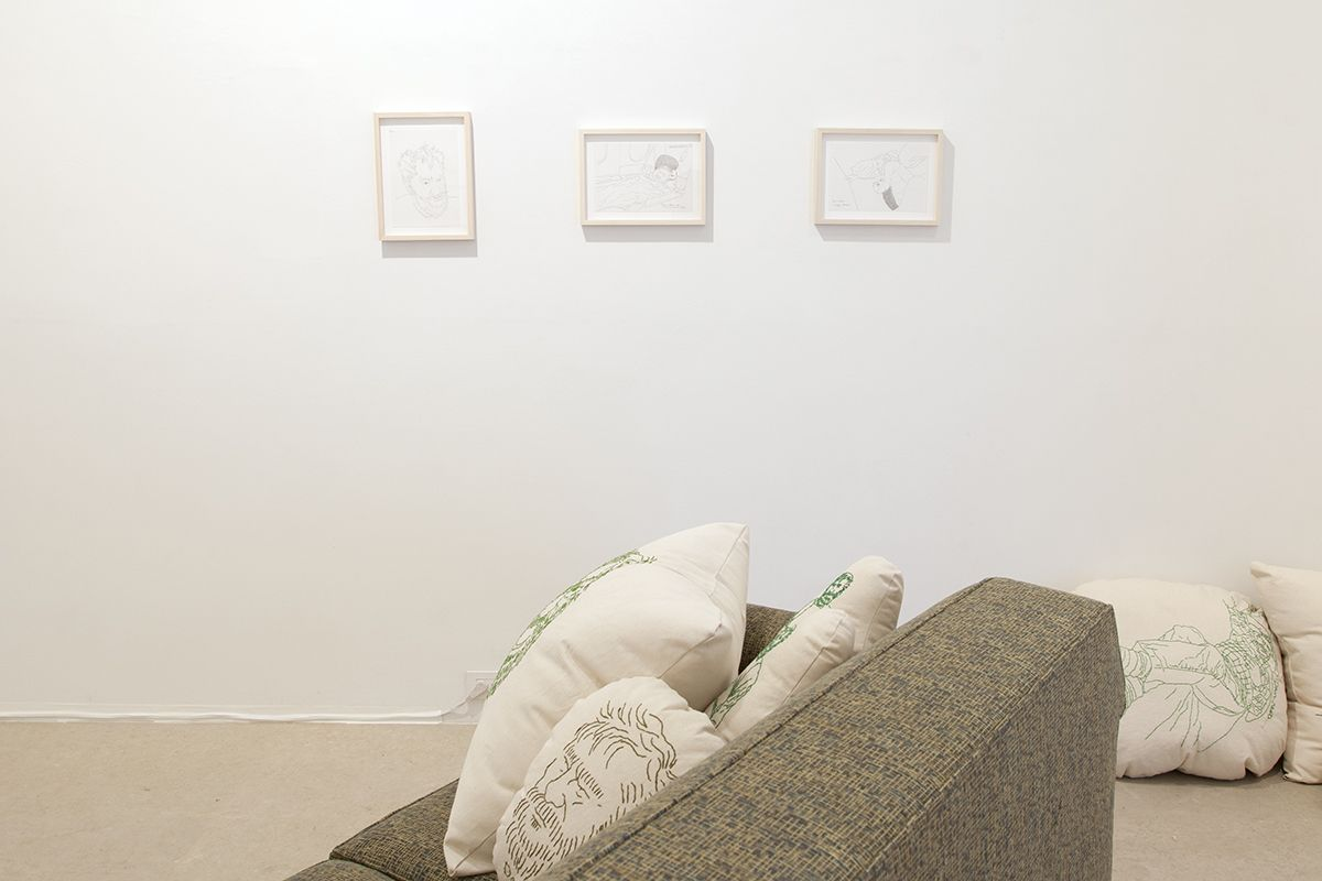 Mieko Meguro, Installation view, Couch Potato with Dan, Greene Naftali, New York, 2016