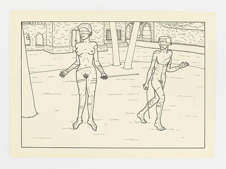 Mayo Thompson, Naughty Naughty, 1972 Ink on paper