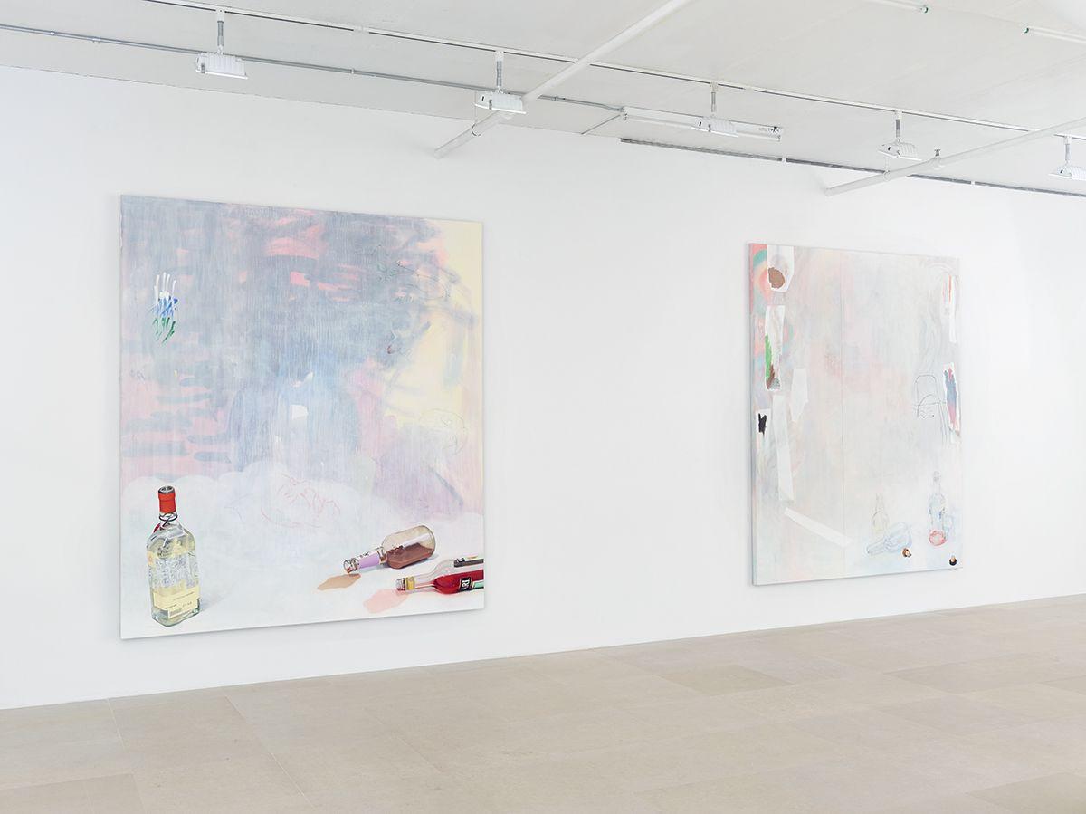 Monika Baer, Installation view,on hold, Greene Naftali, New York, 2015